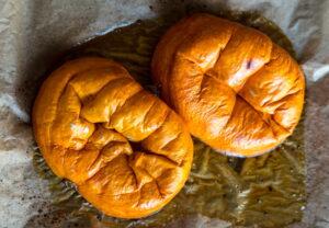 fresh baked pumpkin