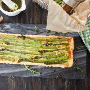 Asparagus Quiche - Rough Puff Pastry Dough